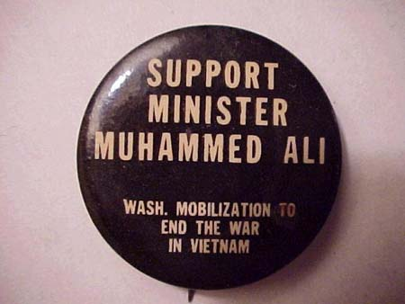 Source: Support Minister Muhammed Ali - Wash. Mobilization to End the War in Vietnam. (196?). Retrieved March 3, 2004 from the World Wide Web: http://www.wellesley.edu/Polisci/wj/Vietimages/ali.htm.