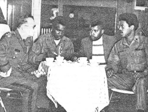"Source: ""Fort Carson's Racial Harmony Council: Ethnic Groups At Army Post Are 'Keeping It Together'."" Commander's Digest. Vol. 12, no. 2. Washington, D.C. GPO, May 18, 1972. P. 6-7."