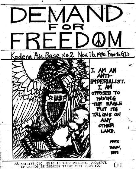 Source: Demand for Freedom. Kadena Air Force Base, Japan: [s.n.], No. 2, November 16, 1970.